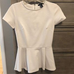 White peplum blouse, size small